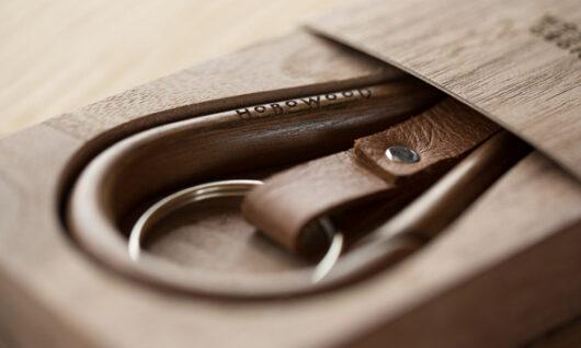 Walnut Carabiner – Hobowood