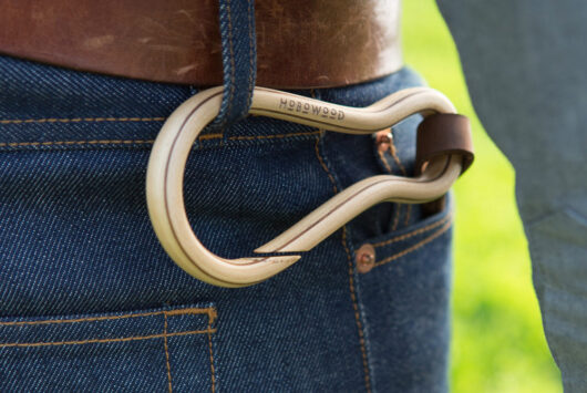 Maple-two layer walnut carabiner